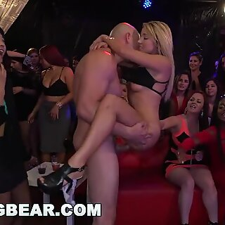 DANCING cub - gigantic Dick Studs Sling Dick In Strip Club During CFNM party