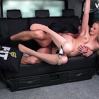 Fucked In Traffic - Kinky Driver Bangs His Big Ass Client Katie Sky