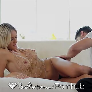 PureMature - Stud explores every inch of Audrey flashes scorching milf body