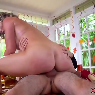 Milf nylon dress Gobble On The Pussy Not The Pie - Cory Chase