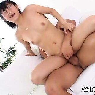 Asian cuttie getting fucked deep in her sweet coochie