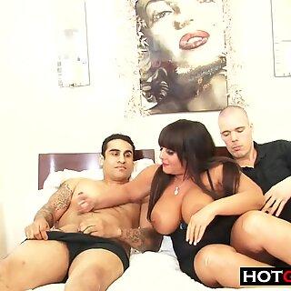 BBW Milf Vs 2 Cocks Threesome