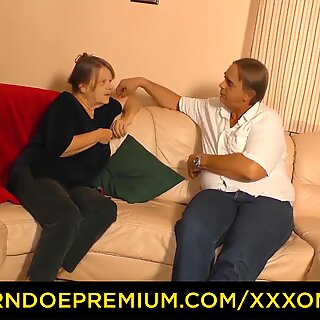 XXX OMAS - Naughty German granny enjoys hot hard fuck and mouth creampie