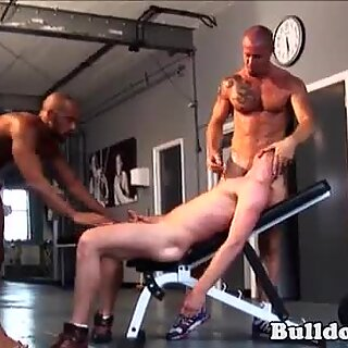 Rimmed voyeur asspounded in trio by bbc