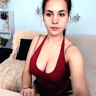 Busty Amateur Teen Striptease on Webcam