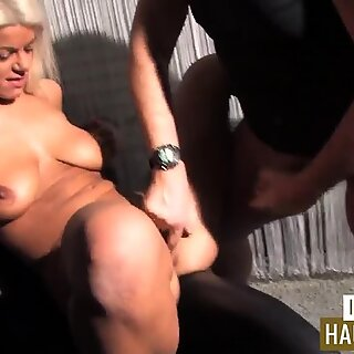 Blonde mom and the fat guy
