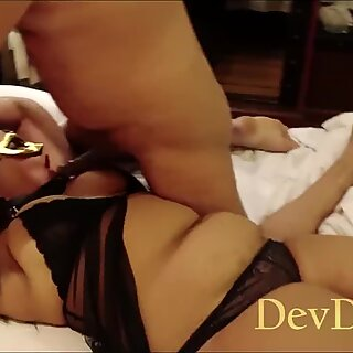 Indian Girl Tied And Used Like A Whore - Double Blowjob And Hard Fucking